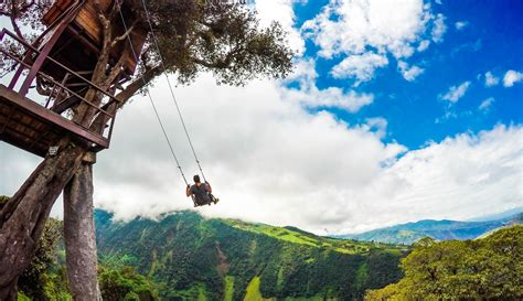 swing in ecuador two days in banos ecuador canyoning and the swing at