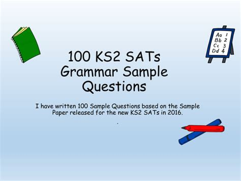 grammar questions ks2 100 year 6 sats challenges grammar question