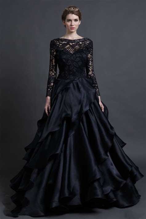 a dark wedding font popular black gothic wedding dresses aliexpress