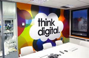 Professional Office Wall Decor Ideas Creative Office Branding Using Wall Graphics From Vinyl