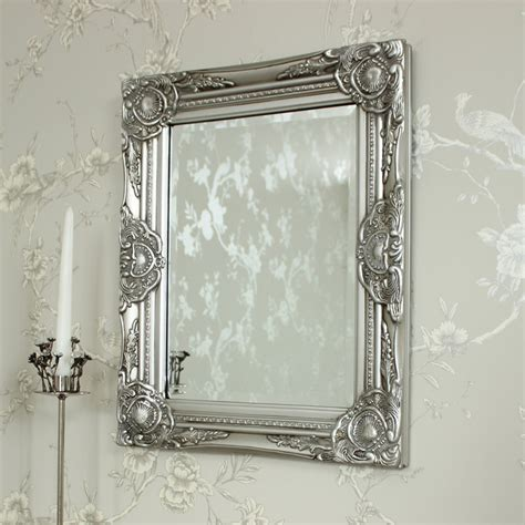 gold and silver mirror ornate silver wall mirror melody maison 174