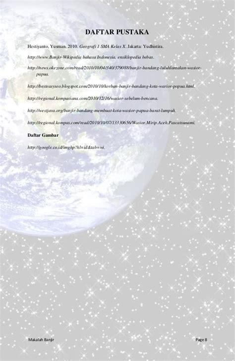 membuat makalah tentang bencana alam makalah geo banjir