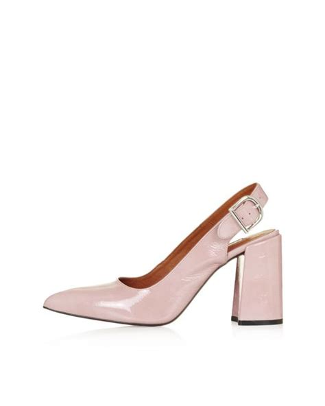 topshop gramercy slingback shoes in pink lyst