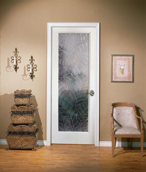 Decorative Interior Doors With Glass Kona Decorative Glass Interior Door Home Office Sacramento By Homestory Easy Door Installation