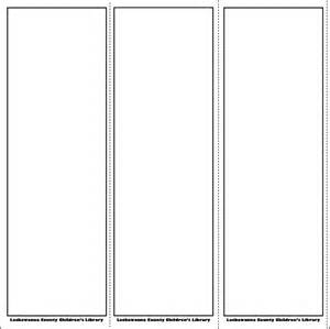 5 best images of free printable blank bookmarks free