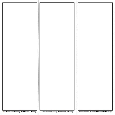 Blank Bookmarks Template 5 best images of free printable blank bookmarks free