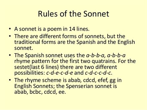 the sonnets and a sonnets