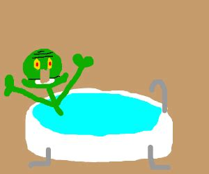squidward bathtub your first drawing ever but improved
