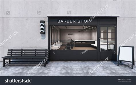 viewing a thread shop loft pictures front view barber shop modern loft stock illustration