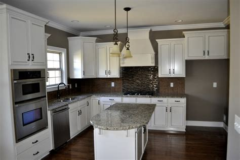 White Kitchen Cabinets With White Backsplash White Cabinet Kitchen With Tile Backsplash Contemporary