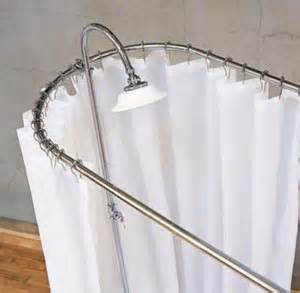 how to make a shower curtain rod for a clawfoot tub bathroom