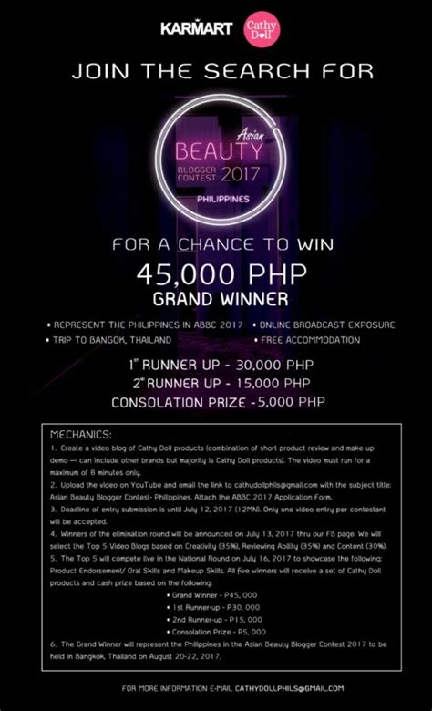 blogger competition 2017 asia s beauty blogger contest is on earthlingorgeous
