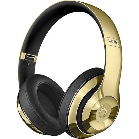 Headphone Beats Wireless beats by dre limited edition gloss gold headphones and