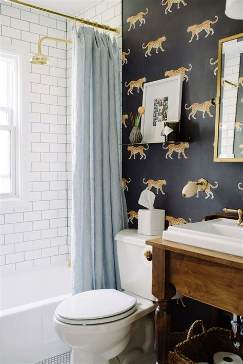 funky bathroom wallpaper ideas 17 times that wallpaper in a bathroom stole the show
