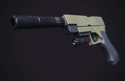 Modification Glock 17 by 3d Print Model Glock 17 Modification Cgtrader