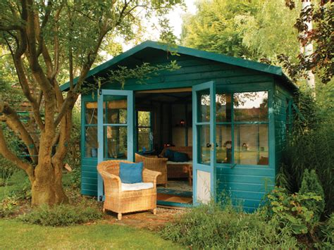 Backyard Studio Plans | versatile green garden shed hgtv