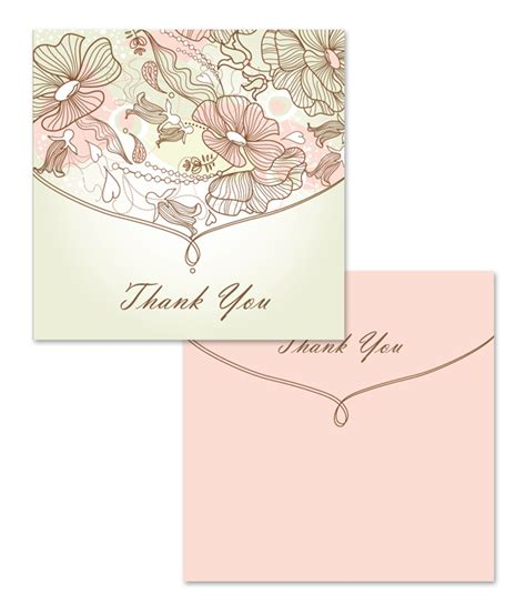 thank you card templates bi fold tri fold thank you card template software free