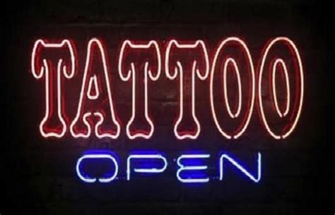 tattoo shops open today business custom neon sign board for open