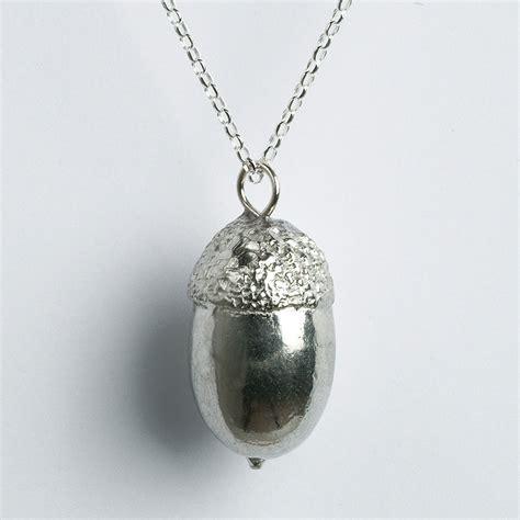 pewter jewelry acorn necklace uk handmade acorn and oak jewellery