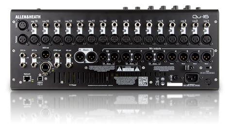 Mixer Allen Heath 16 Ch allen heath qu 16 16 channel digital mixer