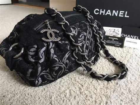 chanel tas zwart fluweel en zijde met ketting motief