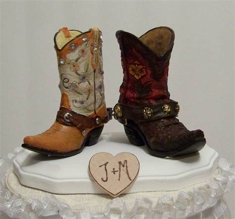 Cowboy Boots Cake Decorations by Wedding Cake Topper Western Cowboy Boots Wedding Ideas