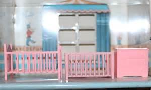 marx plastic nursery set dollhouse furniture