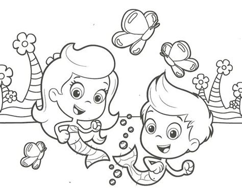 bubble guppies coloring page 24 colpages com coloring