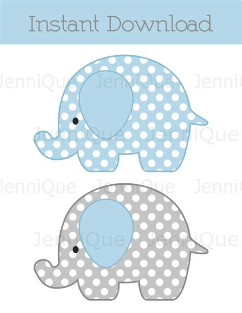Free Printable Elephant Baby Shower