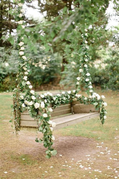 romantic outdoor swing flower swing decorations for the most romantic garden party