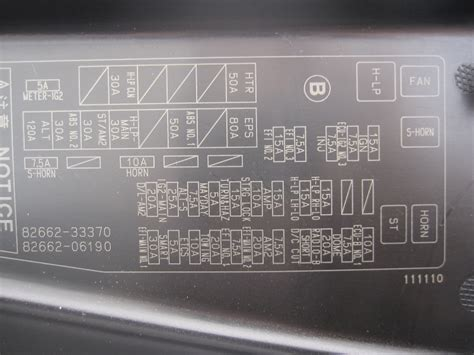 2003 Toyota Camry Fuse Box Toyota Camry Fuse Box Location 114