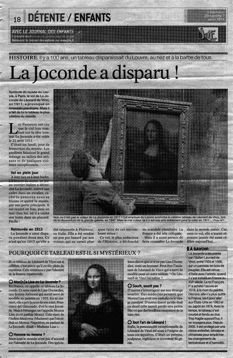 > Le vol de la Joconde dans la presse – Didier BONTEMPS