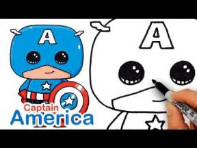 how to draw captain america easy and cute youtube