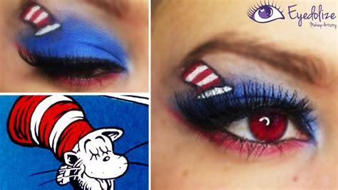 dr seuss cat   hat inspired eyeshadow tutorial