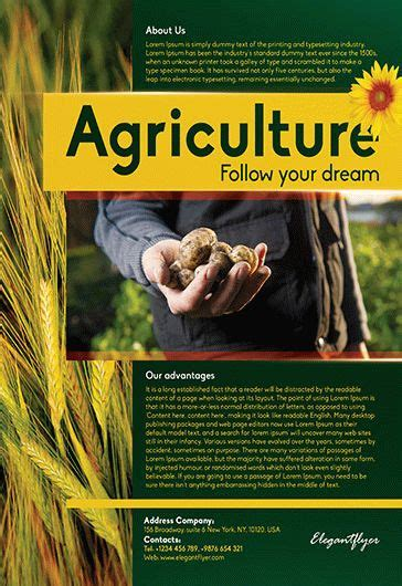 Free Agriculture Corporate Flyer Templates By Elegantflyer Free Agriculture Flyer Templates