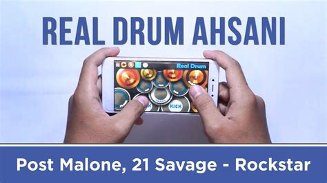 real drum cover tutorial post malone 21 savage rockstar real drum cover by