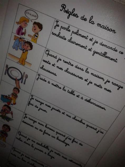 Regle De La Maison A Imprimer by Tableau Regle De La Maison Pour Enfant A Imprimer