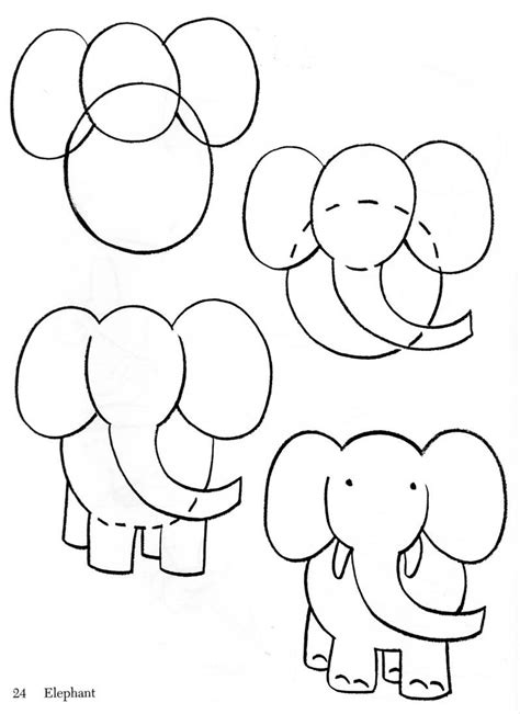 how to draw animals how to draw baby elephant