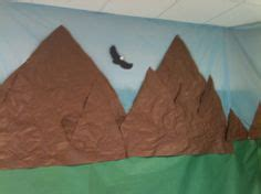 How To Make A Paper Mountain Out Of Construction Paper - pin by on vbs