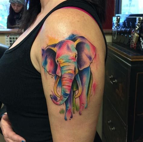 watercolor animal tattoo best 25 watercolor elephant tattoos ideas on