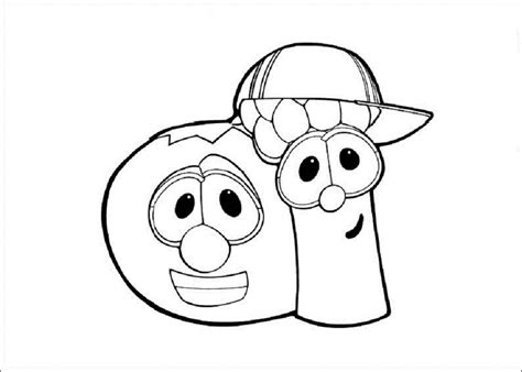 free printable veggie tales coloring pages for kids