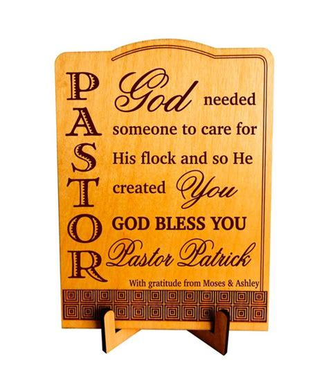 christmas gift for a pastor gift to pastor pastor appreciation plaque custom