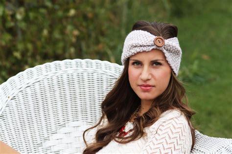 knit crochet turban headband button headbands sale crochet headband large wood button straw