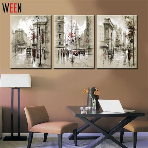 decorative wall sts canvas printings retro city landscape 3