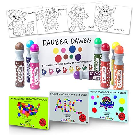 a dot markers paint daubers activity book bugs learn as you play do a dot page a day animals books 8 pack washable dot markers bingo daubers dabbers dauber