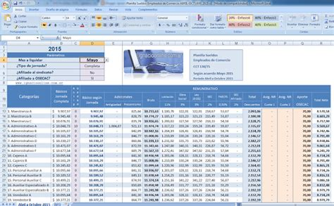planilla de empleados contabilidad general agrupaci 243 n de trabajadores de comercio desde abajo