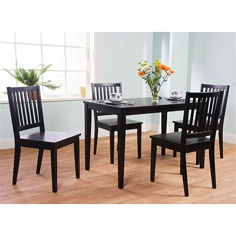 shaker dining room set shaker 5 piece dining set black furniture walmart com