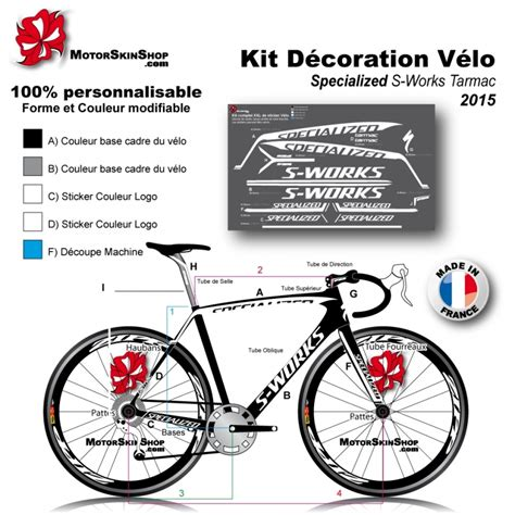 Bike Sticker Work Photos by Sticker Cadre Specialized S Works Tarmac 2015
