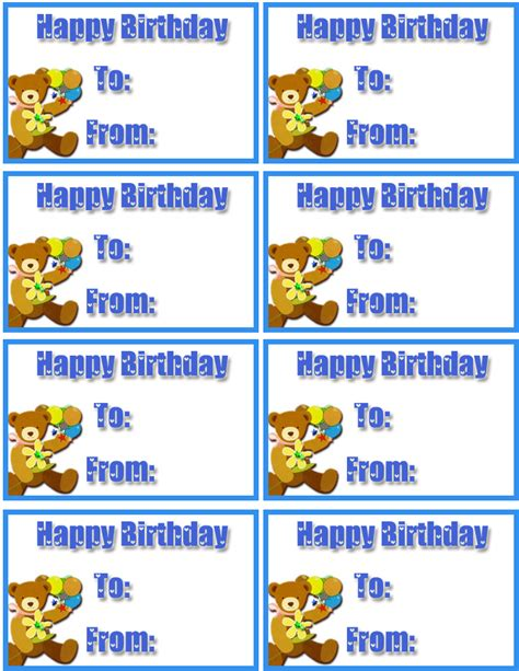 printable tags birthday birthday gift tag outline www imgkid com the image kid