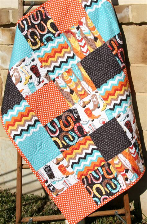 Western Baby Quilt by Western Boy Quilt Baby Luckie By Blend By Sunnysidedesigns2